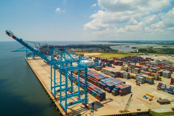 Cranes at Port Mobile Alabama
