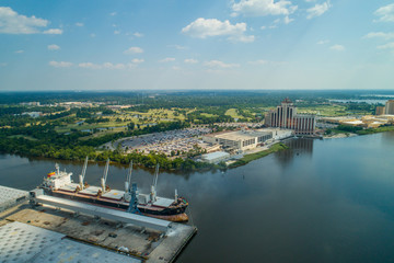 Aerial image of Lake Charles port harbor