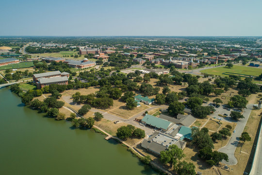 Aerial image of Baylor University Waco Texas
