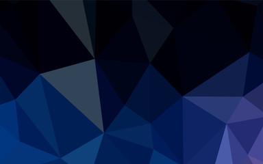 Dark BLUE vector gradient triangles pattern.