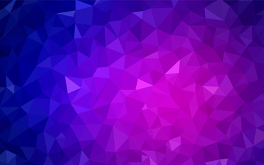 Light Pink, Blue vector polygon abstract background.
