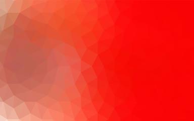 Dark Orange vector polygonal pattern.