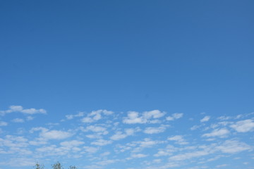 Sky view with scattered clouds