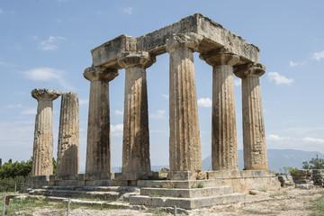 Apollo-Tempel im antiken Korinth, Griechenland