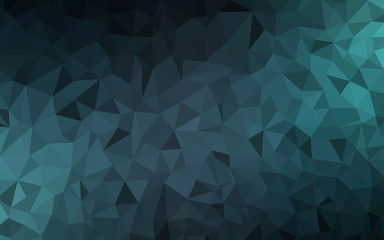 Dark BLUE vector abstract mosaic backdrop.