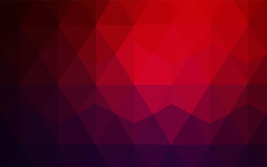 Dark Blue, Red vector low poly layout.