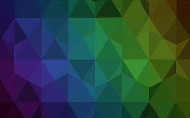 Dark Blue, Green vector polygonal pattern.