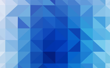 Light BLUE vector triangle mosaic template.