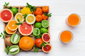 Fresh ripe sweet assorted exotic fruits