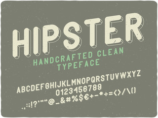 Vintage label font with 3d extrude effect.