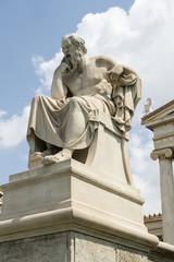 Photo sur Plexiglas Commemoratif Sokrates-Statue bei der