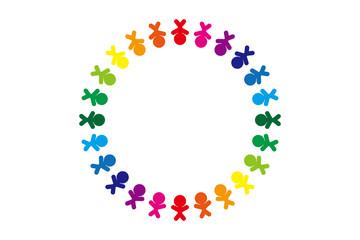 背景素材,イメージ,人の輪,チームワーク,仲間,コミュニティ,グループ,コミュニケーション,仲良し,