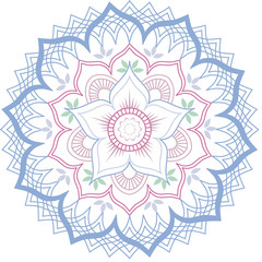 Lotus flower geometric mandala