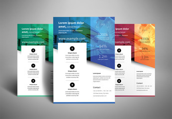 Business Flyer Layout with Two-Tone Color Accents