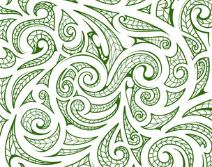 Maori style ornament as background layer