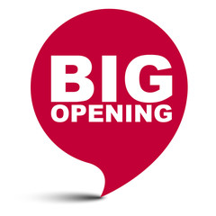 red vector bubble banner big opening