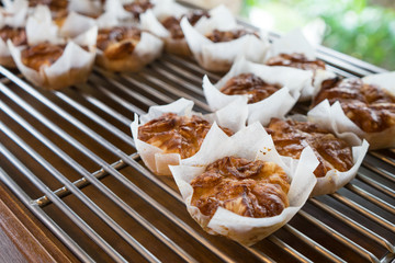 Kouign amann is a Breton cake for sell at a shelf