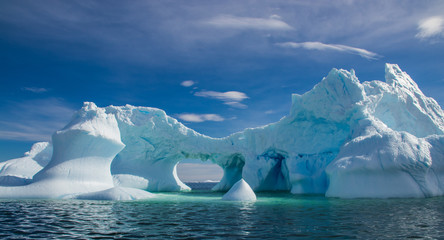 Staande foto Antarctica Dramatic Ice Formations Off the Coast of Antarctica