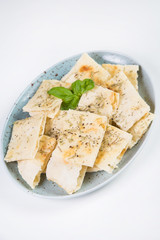 focaccia with fragrant herbs