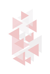Geometric pattern for interior design on white background