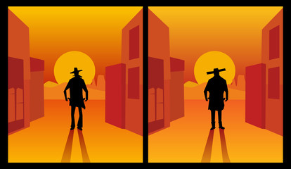 Wild west gunslinger.