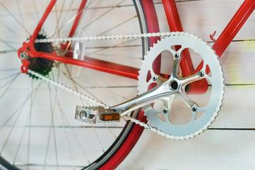 Retro red Bike