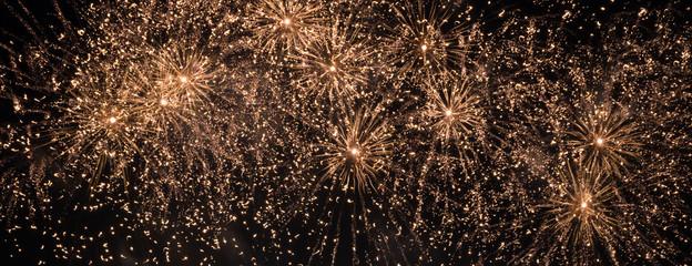 golden color firework background