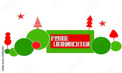 Frohe Weihnachten Band.Weihnachten Band Banner Landschaft Rot Grün Gruß Frohe Weihnachten