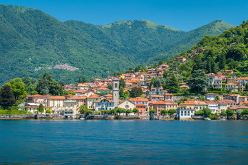 Torno, colorful and picturesque village on Lake Como. Lombardy, Italy.