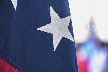 Close-up Stars of the USA Flag