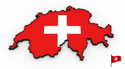 Switzerland high detailed 3D map