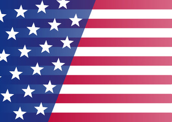 USA flag. Banner for your text. Vector illustration