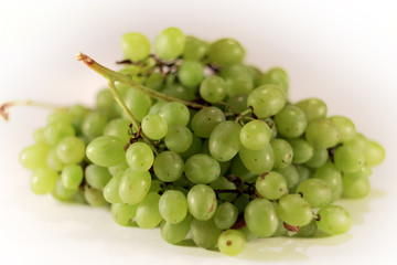 green grapes on isolated white background