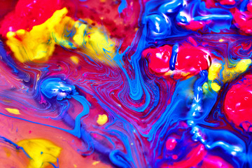 Colours mixing in fluid