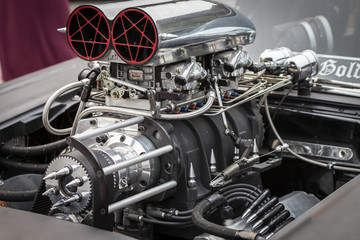 A Huge Muscle Car Engine Wall mural
