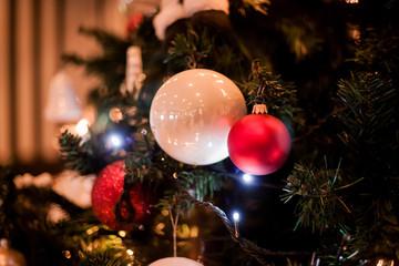 Christmas balls on the Christmas tree