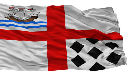 Nanaimo City Flag, Country Canada, Isolated On White Background