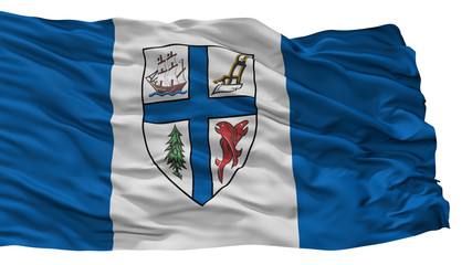 New Westminster City Flag, Country Canada, British Columbia Province, Isolated On White Background