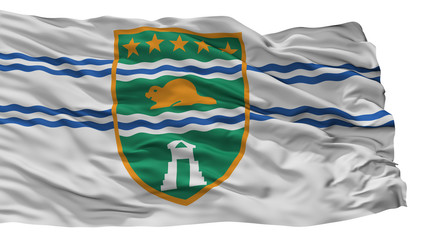 Surrey City Flag, Country Canada, British Columbia Province, Isolated On White Background
