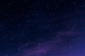 Night stars during full moon
