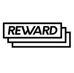 reward stamp on white