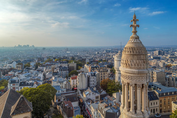 Rooftop and aerial view from Sacre Coeur Basilica, Paris