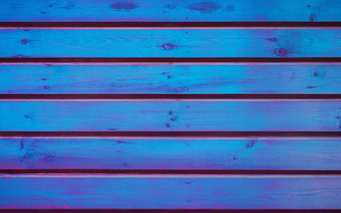 Blue With Purple Wooden Planks Textured Background