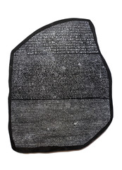 Rosetta stone, key to deciphering Egyptian hieroglyphs