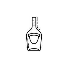 bottle of alcohol dusk icon. Element of drinks and beverages icon for mobile concept and web apps. Thin line bottle of alcohol icon can be used for web and mobile
