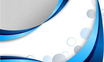 A blue blank template
