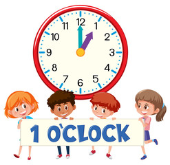 1 o'clock and students