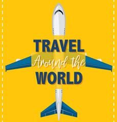 Travel around the world template