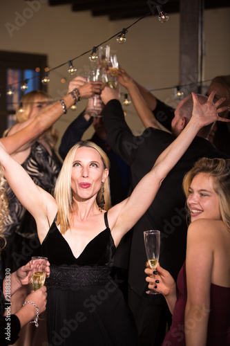 Woman On The Dance Floor At Party