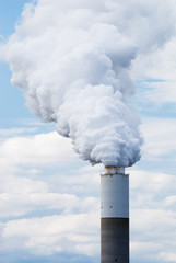 Smokestack with clouds
